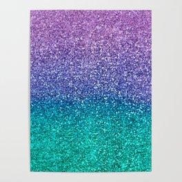 Lavender Purple & Teal Glitter Poster
