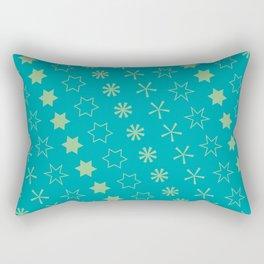 Asterisk-a-thon Blue Rectangular Pillow