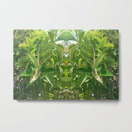 Jungle Mirror Metal Print