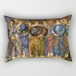 "Edward Burne-Jones ""The Days of Creation - all"" Rectangular Pillow"