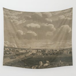Vintage Cleveland Ohio Illustration (1833) Wall Tapestry