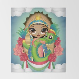 Gods of Mexico Throw Blanket