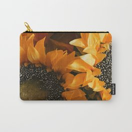 Bright Orange And Vibrant Yellow Sunflowers  Carry-All Pouch