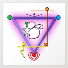 All Chakra Symbol Art Print