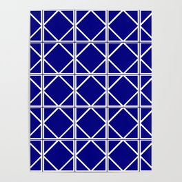 Navy Triangle Square Poster