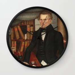 Vermont Lawyer Oil Painting by Horace Bundy Wall Clock