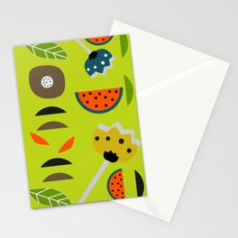 Modern decor with fruits and flowers Stationery Cards