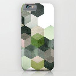 Modern Green Hexagon Art 6 iPhone Case