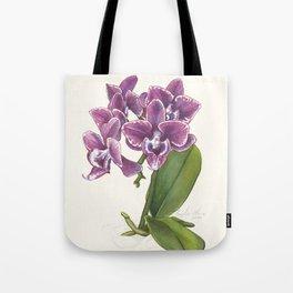 Purple Phalaenopsis Orchid Tote Bag