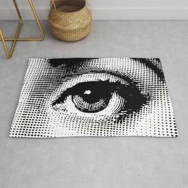 Lina Cavalieri - left eye Rug
