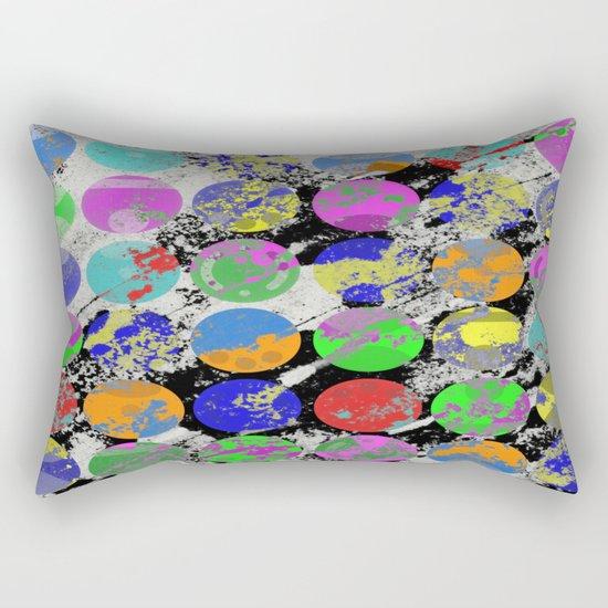 Textured Circles - Abstract, geometric, textured artwork Rectangular Pillow