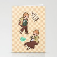 bioshock infinite Stationery Cards featuring Bioshock Infinite - Luctece Twins by Choco-Minto