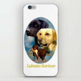 Labrador Retriever Breed Art with Namplate iPhone Skin