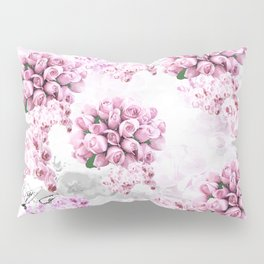 ORCHIDS ROSES MAGNOLIAS and Dragonflies Pillow Sham