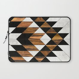 Urban Tribal Pattern 9 - Aztec - Concrete and Wood Laptop Sleeve
