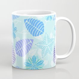 Abstract Floral Pattern Blue Green Purple Coffee Mug