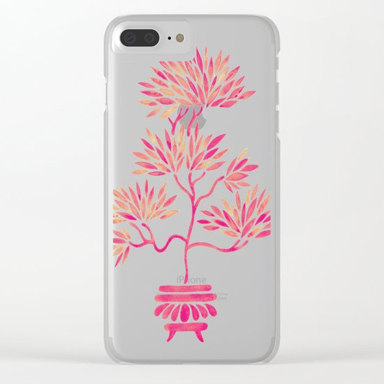 Bonsai Tree – Pink Palette Clear iPhone Case