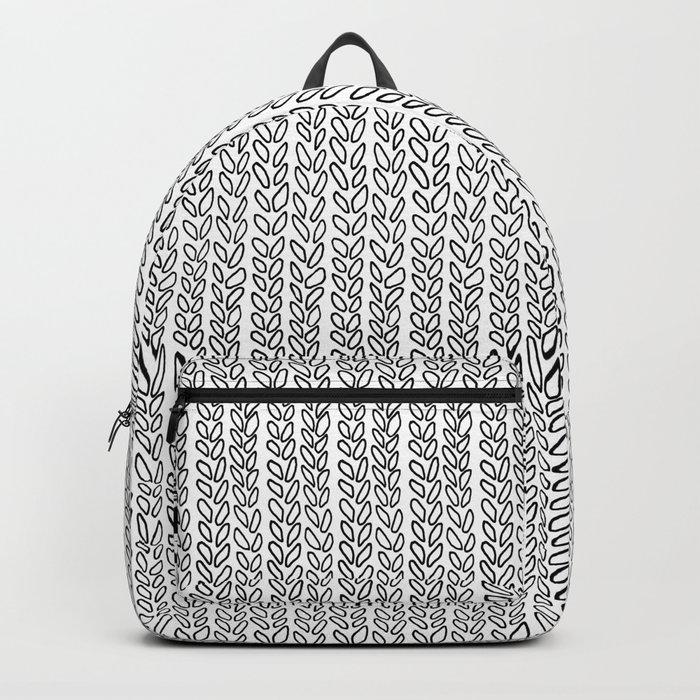 Knit Outline Backpack