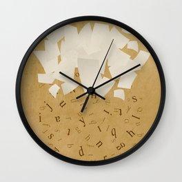 It's raining words Wall Clock