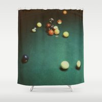 sharks Shower Curtains featuring Pool Sharks by Devic Fotos