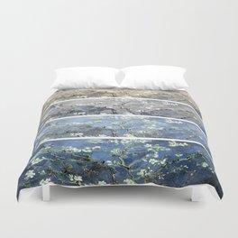 Vincent Van Gogh : Almond Blossoms Panel Art Blue Beige Duvet Cover