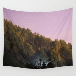 Daynight woodland activities Wall Tapestry