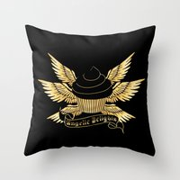verse Throw Pillows featuring Sweetshop Verse by Night Of The Living Fig