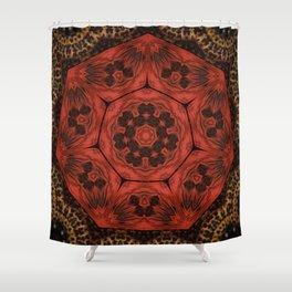 Ruby // Visionary Art Chakra Mandala Healing Energy Root Red Magical Geometric Shower Curtain