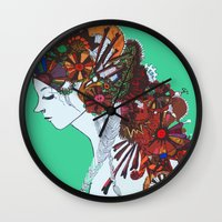 clockwork Wall Clocks featuring Clockwork. by Me-Shirts