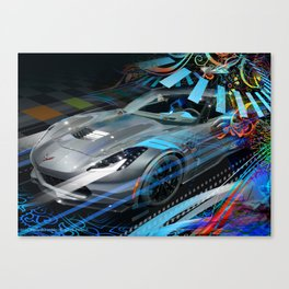 Give Me Speed (Right hand drive) Canvas Print
