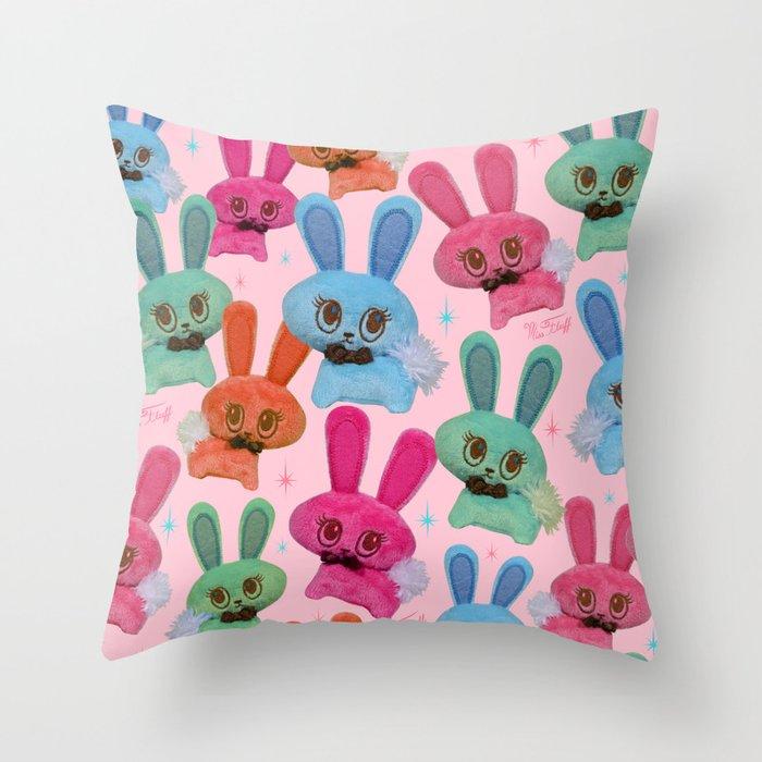 Cute Fluffy Bunnies Throw Pillow