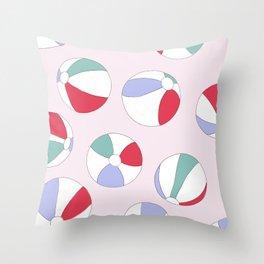 Beach Ball Happy Throw Pillow