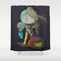 samus Shower Curtains featuring Samus by Rod Perich