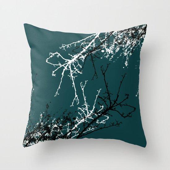 grey sky Throw Pillow