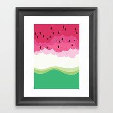 Big watermelon Framed Art Print