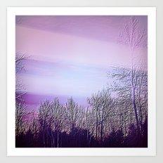 Lavender Dusk Landscape | Nadia Bonello Art Print