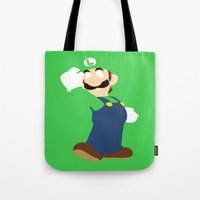 luigi Tote Bags featuring Luigi by Valiant