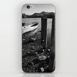 rowing boats on derwentwater iPhone Skin