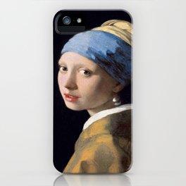 Vermeer, Girl with a Pearl Earring,Meisje met de parel,La joven de la perla iPhone Case