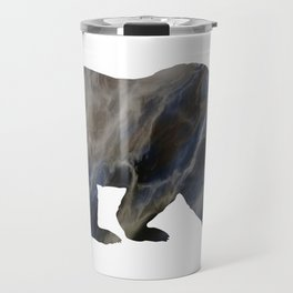 Marble Bear Silhouette Travel Mug