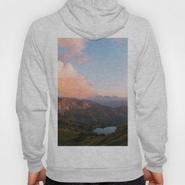 Mountain lake in Germany with Moon - landscape photography Hoody