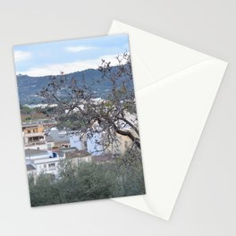 landscape in the little town Stationery Cards