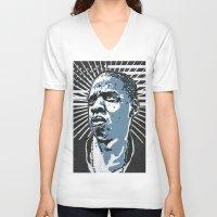 jay z V-neck T-shirts featuring Jay-Z by Hans Poppe