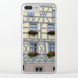 Flower Boxes on Timbered Building Clear iPhone Case