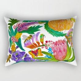 Australian native flowers wreath Rectangular Pillow