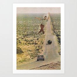Car Bowling Art Print