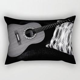 MY VINTAGE ACOUSTIC GUITAR B&W PHOTOGRAPHY Rectangular Pillow