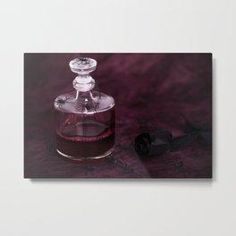 Blood Decanter Metal Print