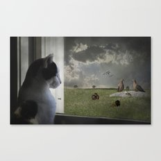 The Taunted Canvas Print