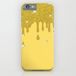 Dripping Gold Glitter Effect & Sparkles iPhone Case